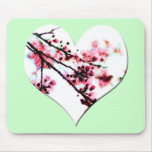Cherry Blossom Heart mousepads