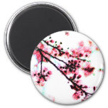 Cherry Blossom Painting magnets
