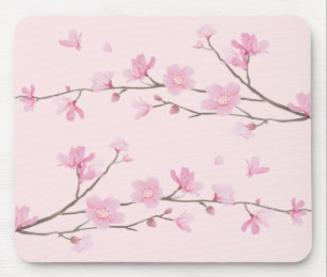 Cherry Blossom Pink Mouse Pad