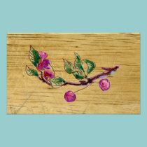 Cherry Branch on wood posters