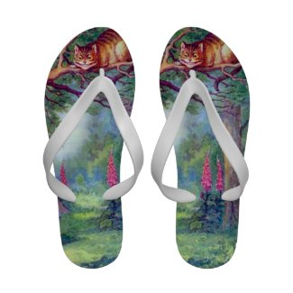 Cheshire Cat Full Color Flip Flops
