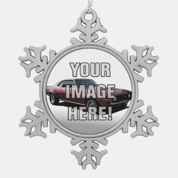 Chevrolet Camaro Photo - Add your car Snowflake Pewter Christmas Ornament