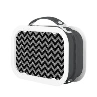 Chevron Glitter Look Lunch Box