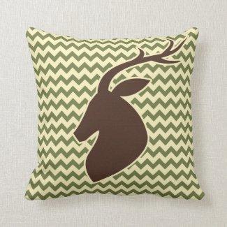 Chevron Pattern Buck Throw Pillow