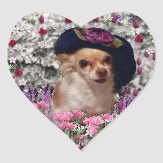 Chi Chi in Flowers - Chihuahua Puppy in Cute Hat sticker
