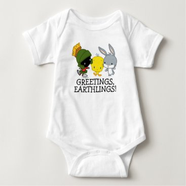 Chibi MARVIN THE MARTIAN™, TWEETY™, & BUGS BUNNY™ Baby Bodysuit