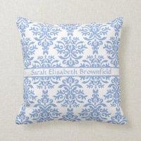 Blue And White Pillows - Blue And White Throw Pillows | Zazzle