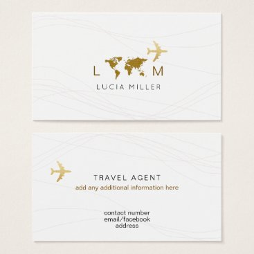 chic business card for a travel agent