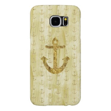 Chic Gold Glam Anchors Samsung Galaxy S6 Case
