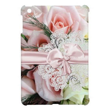 Chic Pink Roses & Lace iPad Mini Case