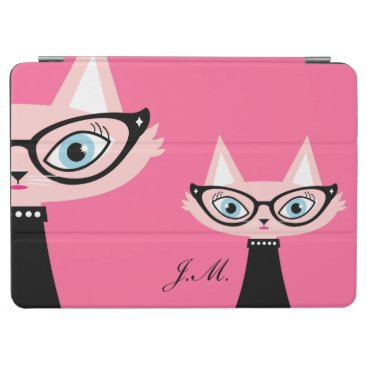Chic Vintage Cat iPad Air Cover - Pink