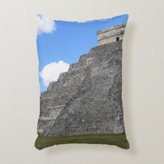 Chichen Itza Temple of Kukulcan south-west View Accent Pillow