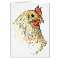 Chicken Hen Farm Animal Thank You Card