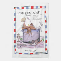 chicken soup recipe, tony fernandes teatowel towel