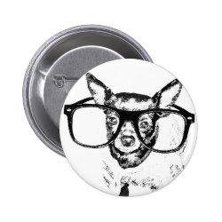Chihuahua Dog Illustration Drawing Pinback Button
