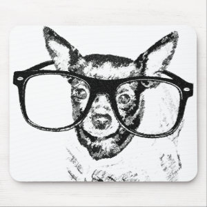 Chihuahua Dog Illustration Drawing Products Mouse Pad