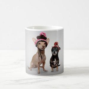 Chihuahua Dogs With Hats Photo Classic White Coffee Mug