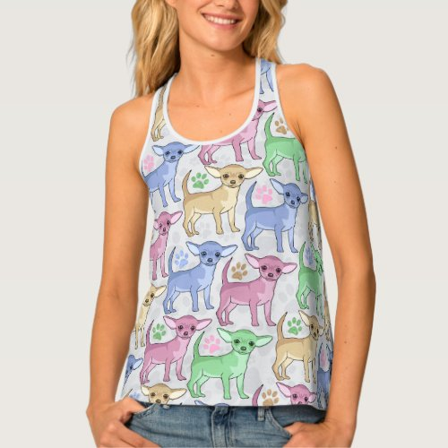 Chihuahua Lover Colorful Pattern Tank Top