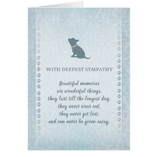 Chihuahua Sympathy Beautiful Memories Card Zazzle