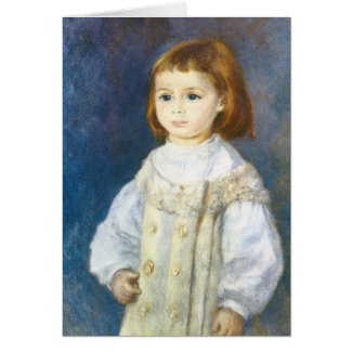 Child in White by Pierre Auguste Renoir Greeting Card
