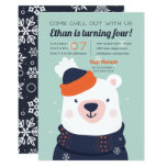 Chill Out | Winter Polar Bear Birthday Party Invitation