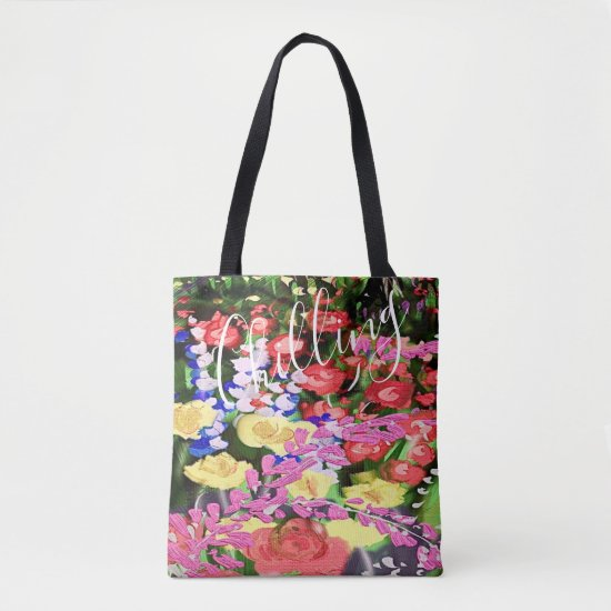 Chilling Multicolor Painting  Brilliant Flowers Tote Bag