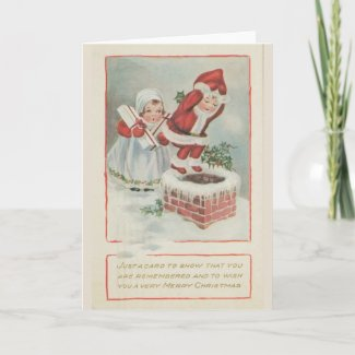 Chimney Children Christmas Card card