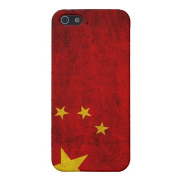 China Grunge Flag iPhone SE/5/5s Case