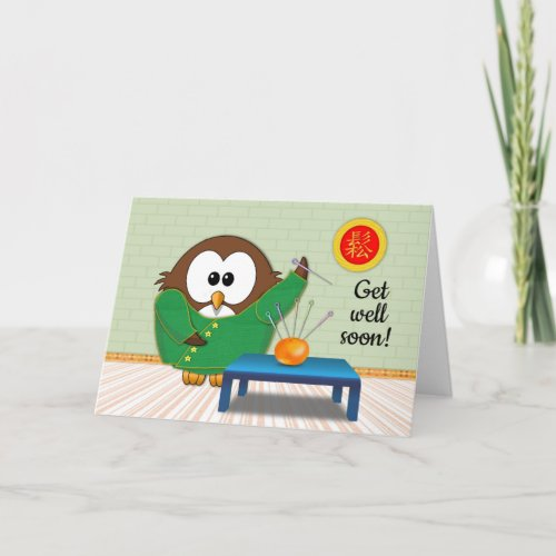 Chinese doctor owl - card