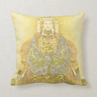 Chinese Empress on Her Throne Pillows