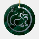 Chinese New Year of the Metal Rat Ceramic Ornament