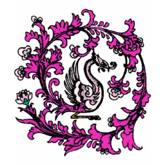 chinese phoenix pink shirt