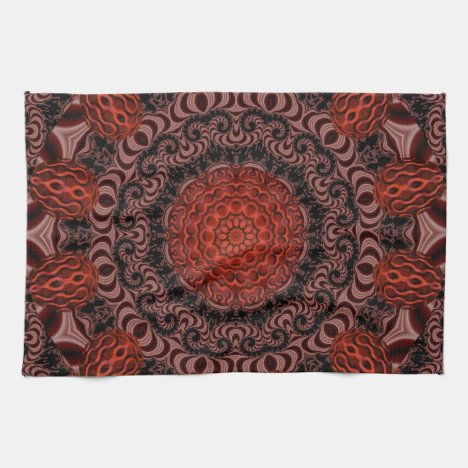 Chocolate and Strawberries, Abstract Towel