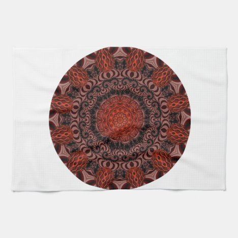 Chocolate and Strawberries Mandala, Abstract Towel