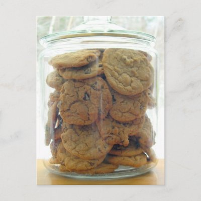 Chocolate Chip Cookie Jar Postcard
