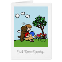 Chocolate Labrador Angel with Love Card