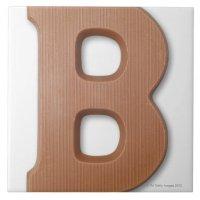 Chocolate letter b ceramic tile | Zazzle