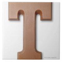 Chocolate letter t ceramic tile | Zazzle