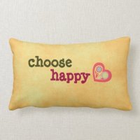 Choose Happy Quote Pillow | Zazzle