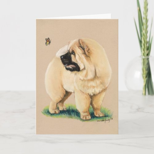 Chow Chow Original Dog Art Greeting Card