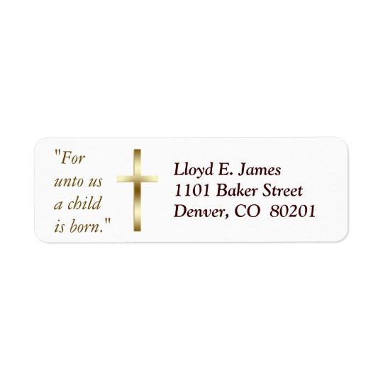 christian cross return address
