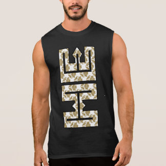 Christian Faux Glitter Gold HE in ME Sleeveless Shirt