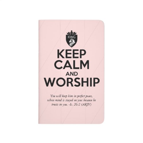 Christian KEEP CALM AND WORSHIP Prayer Journal