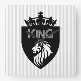 Christian King of Kings Lion Square Wall Clock
