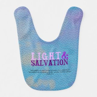 Christian LIGHT AND SALVATION w/Scripture Baby Bib