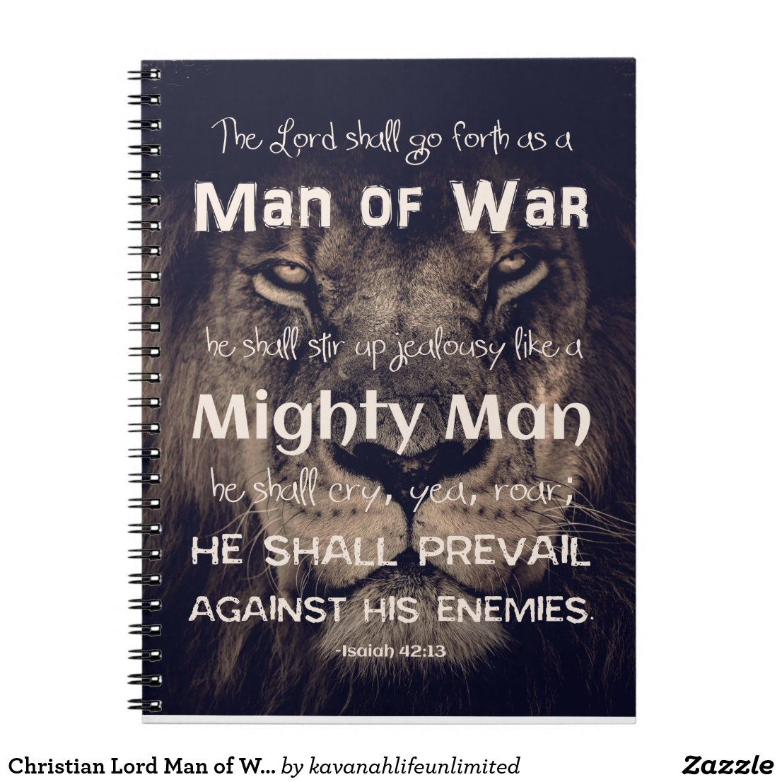 Man of War Scripture Notebook
