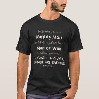 Christian Lord Man of War Scripture Lion T-Shirt