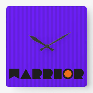 Christian Prophetic Spiritual Warfare WARRIOR Square Wall Clock