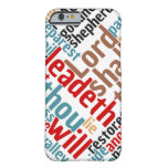 Christian PSALM 23 Colorful Word Art Barely There iPhone 6 Case
