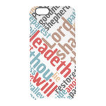Christian PSALM 23 Colorful Word Art Clear iPhone 6/6S Case